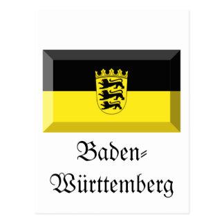 Carte Postale Gemme de drapeau du Bade-Wurtemberg