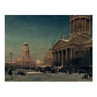 Carte Postale Gendarmenmarkt en hiver, 1857