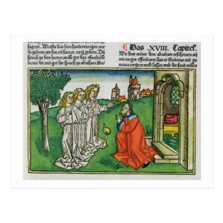 Carte Postale Genèse 18 2 Abraham et les trois anges, du Th