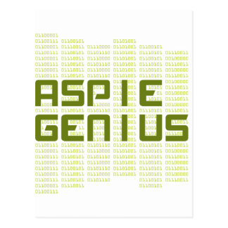 Carte Postale Génie d'Aspie - ordinateurs