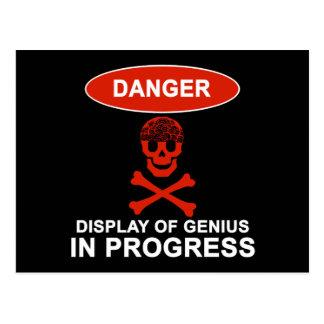 Carte Postale Génie de danger