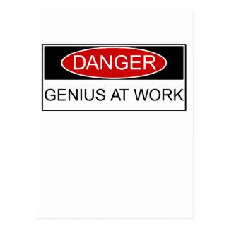 Carte Postale Génie de danger au travail