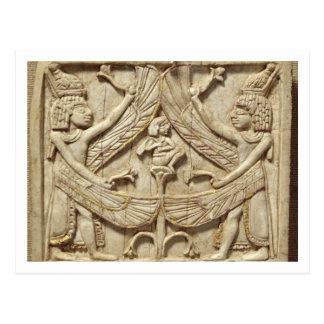 Carte Postale Génies à ailes, période assyrienne, c.750 AVANT