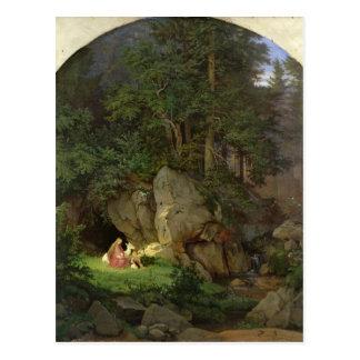 Carte Postale Genoveva dans la clairière en bois, 1839-41