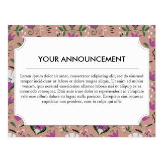 Carte Postale Gens roses de cottage floraux