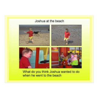Carte Postale Géographie, études sociales, Joshua à la plage