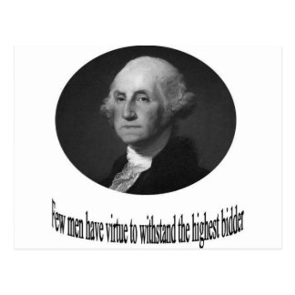 Carte Postale George Washington avec la citation