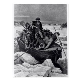 Carte Postale George Washington croisant le fleuve Delaware
