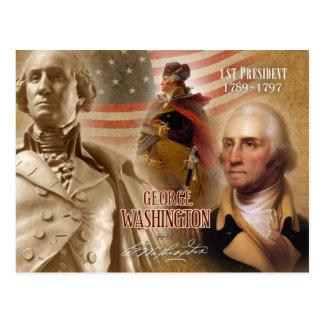 Carte Postale George Washington - ęr président des États-Unis