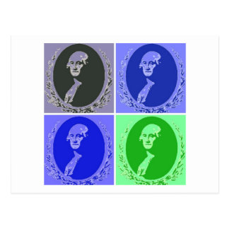 Carte Postale George Washington PopArt