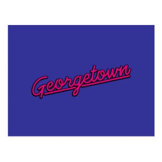 Carte Postale Georgetown en magenta