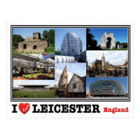 Carte Angleterre Leicester.Cartes Postales Leicester Originales Zazzle Be