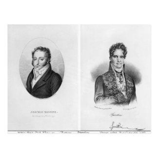 Carte Postale Gioacchino Rossini Gaspare gravé par