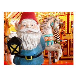 Carte Postale Gnome de carrousel