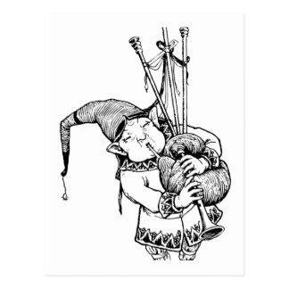 Carte Postale Gnome et ses cornemuses