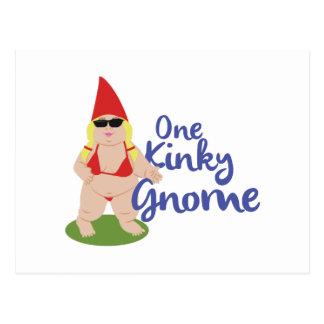 Carte Postale Gnome libertin