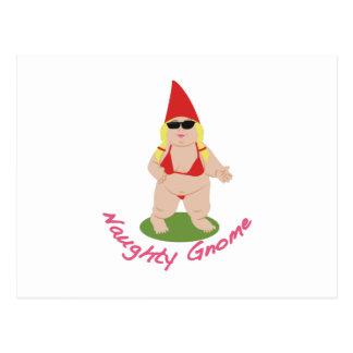 Carte Postale Gnome vilain