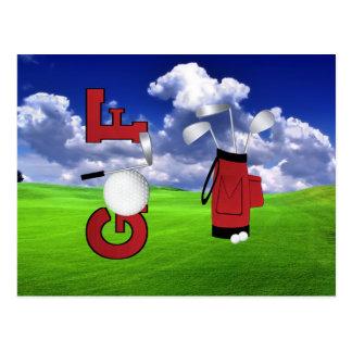 Carte Postale Golf