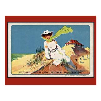 Carte Postale Golf vintage de Knokke Zoute d'époque de belle