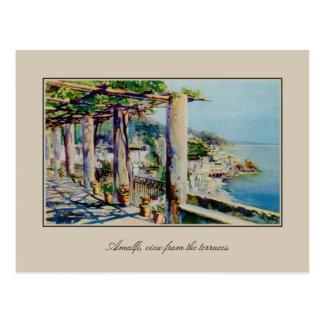 Carte Postale Golfe d'Amalfi d'aquarelle d'aquarelle de Salerno