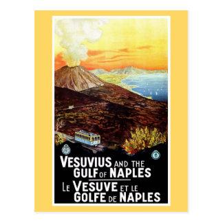 Carte Postale Golfe vintage du Vésuve de voyage italien de