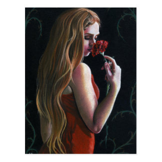Carte postale gothique de Madame Flower d'oeillet