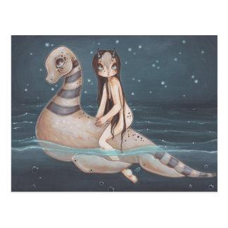 Carte postale gothique féerique d'art d'imaginaire