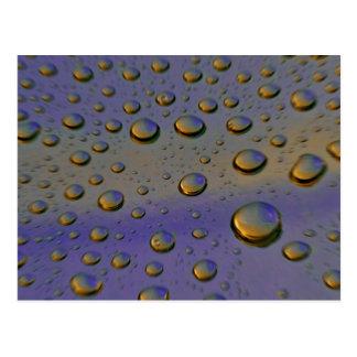 Carte Postale gouttelettes d'eau macro
