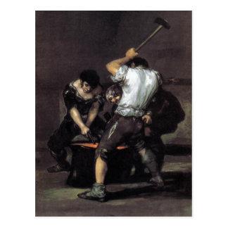 Carte Postale Goya, l'huile de la forge C. 1819 sur la toile,