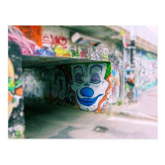 Carte Postale Graffiti de métro - Milan, Italie