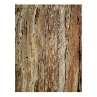 Carte Postale Grain en bois rugueux