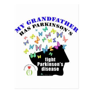 Carte Postale grand-père - conscience de Parkinson de papillons