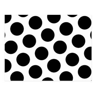 Carte Postale Grand pois blanc et noir