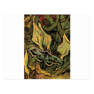 Carte Postale Grande mite de paon par Vincent van Gogh
