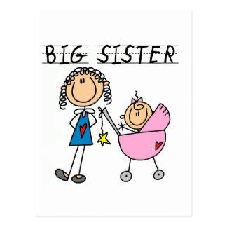 Carte Postale Grande soeur avec le T-shirts et les cadeaux de