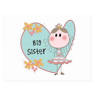 Carte Postale Grande soeur de coeur
