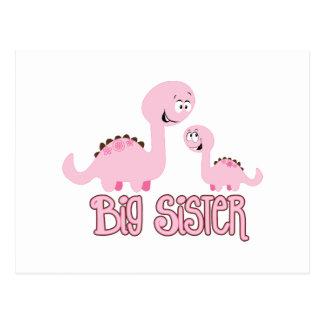 Carte Postale Grande soeur de dinosaure