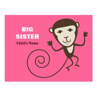 Carte Postale Grande soeur de singe lunatique