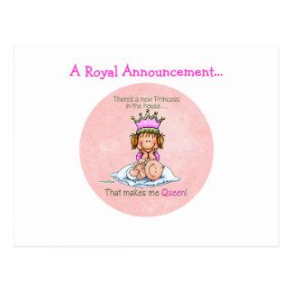 Carte Postale Grande soeur - reine de princesse