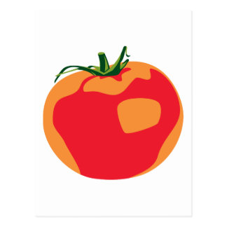 Carte Postale Grande tomate rouge