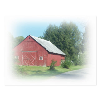 Carte Postale Grange rouge