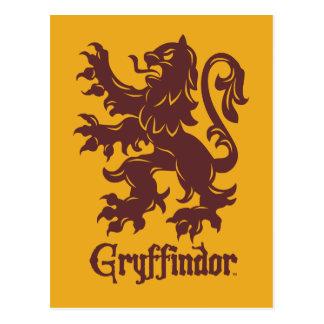 Carte Postale Graphique de lion de Harry Potter   Gryffindor