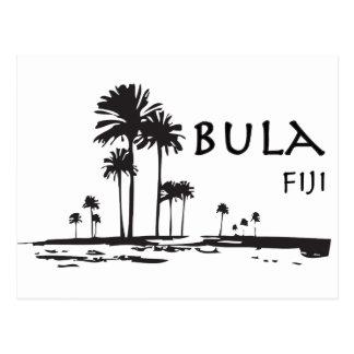 Carte Postale Graphique de palmier de Bula Fidji