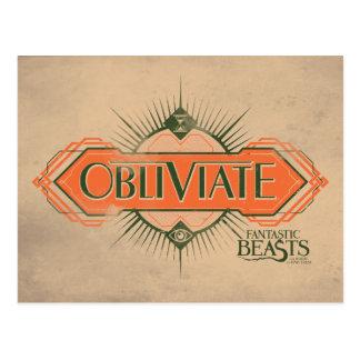 Carte Postale Graphique orange de charme d'Obliviate d'art déco