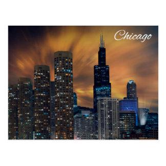 """Carte Postale """"Gratte-ciel de Chicago """""""