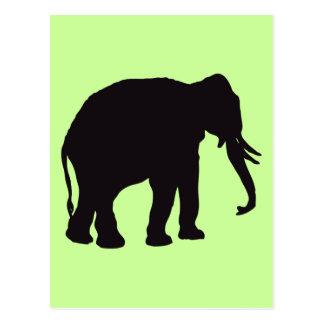 Carte Postale Gravure du bois vintage d'éléphant