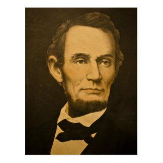 Carte Postale Gravure vintage du Président Abraham Lincoln