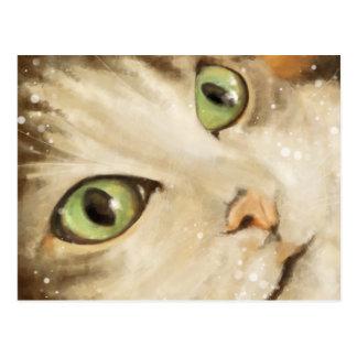 Carte Postale Green eyed cat