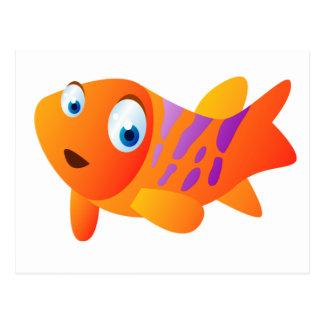 Carte Postale Greg le poisson rouge