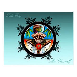 Carte Postale Grenouille de Tiki